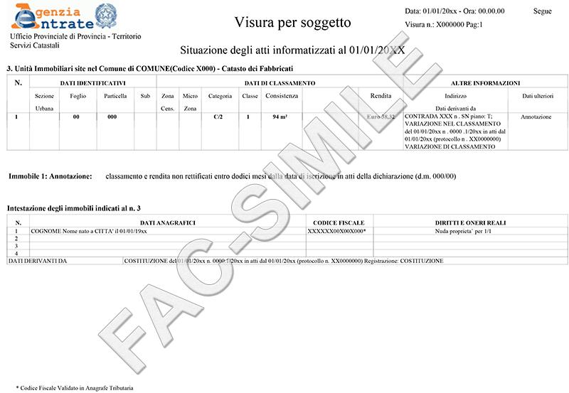 Archdesign design print logistics studio di for Visura catasto